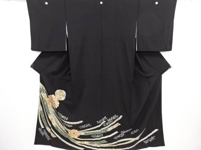 リサイクル 金彩華紋熨斗模様刺繍留袖(比翼付き)【送料無料】