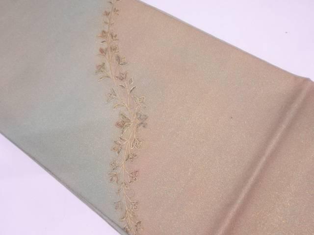 リサイクル 未使用品 花唐草模様刺繍袋帯【送料無料】