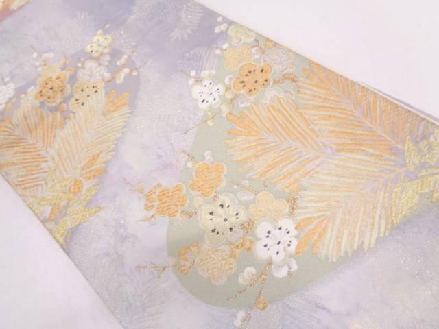 リサイクル 若松に枝梅模様織出し袋帯【送料無料】