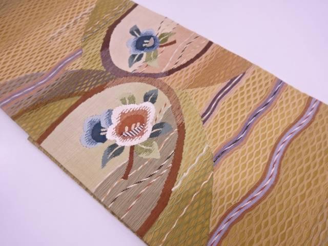 リサイクル すくい織流水に枝花模様織出し夏用袋帯【送料無料】