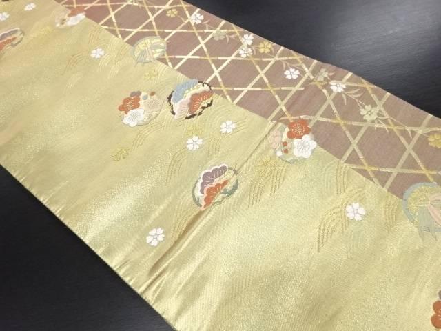 リサイクル 本金松竹梅模様織り出し袋帯【送料無料】