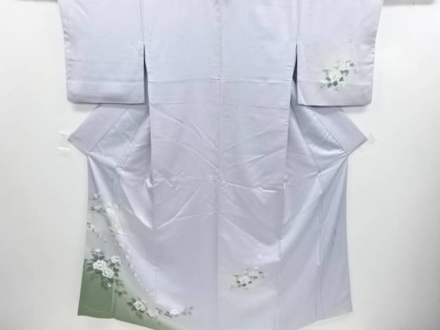 リサイクル 作家物 手描き霞に牡丹模様一つ紋訪問着【送料無料】