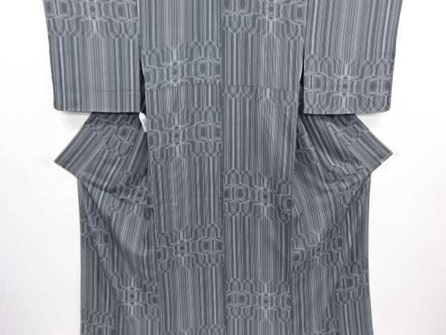 【スーパーSALE 35%オフ】未使用品 仕立て上がり 線描き模様小紋着物【送料無料】
