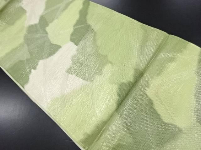 リサイクル 紗芝草模様織り出し袋帯【送料無料】