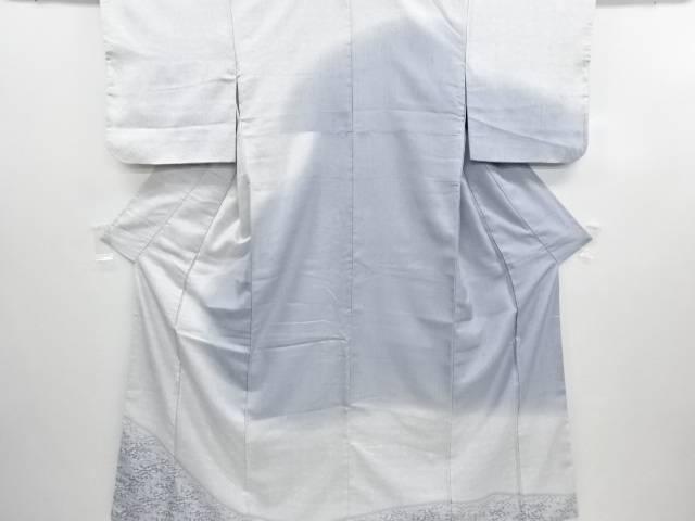 リサイクル 型染花更紗模様手織り縦節紬訪問着【送料無料】