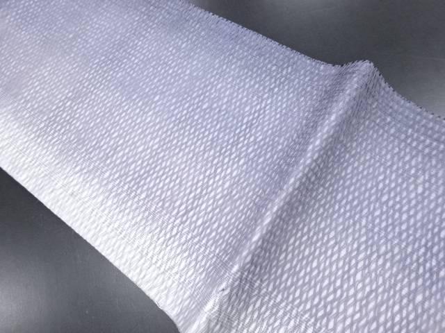 リサイクル 紗すくい織網目模様織り出し暈し名古屋帯【送料無料】