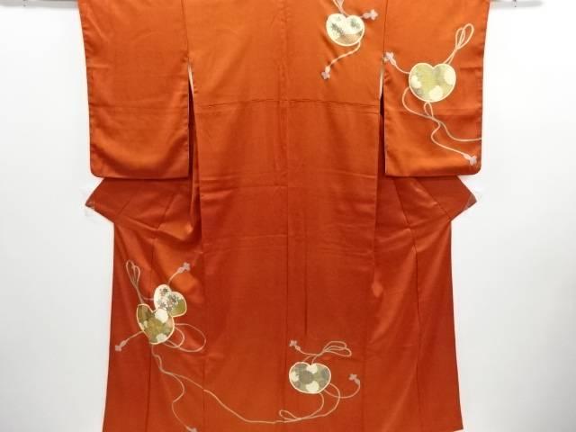 リサイクル 金彩菊楓に組紐模様刺繍訪問着【送料無料】