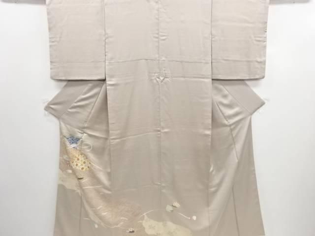 リサイクル 貝合わせに巾着模様刺繍一つ紋色留袖(比翼付き)【送料無料】