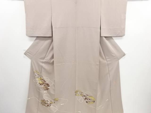 リサイクル 作家物 金彩 瓢箪に町屋風景模様刺繍一つ紋色留袖【送料無料】