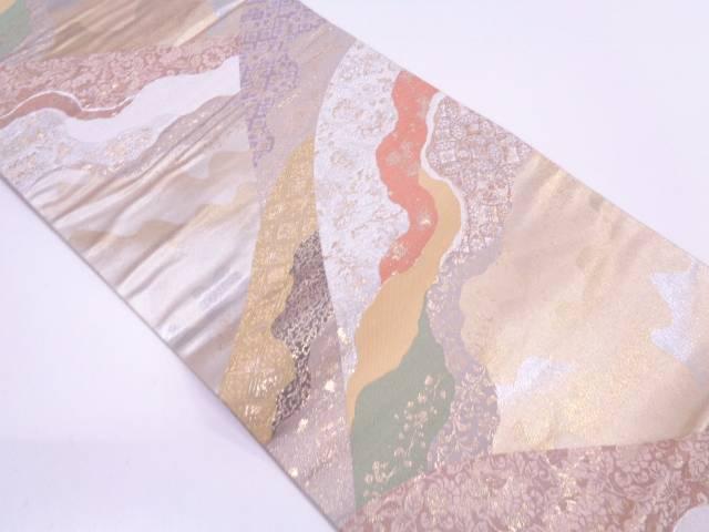 リサイクル 未使用品 とみや織物製 道長取りに花唐草・古典柄模様織出し袋帯【送料無料】