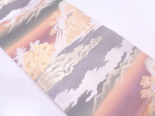 【セール30%オフ】リサイクル 遠山風景模様織出し袋帯【送料無料】