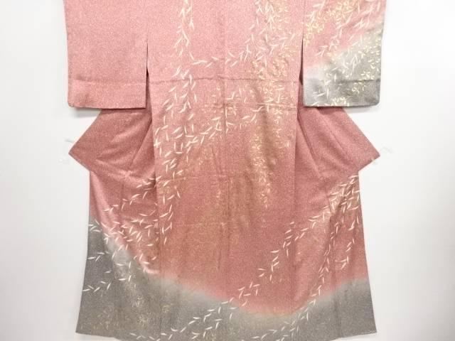リサイクル 金糸枝垂れ柳にのり散らし模様刺繍訪問着【送料無料】