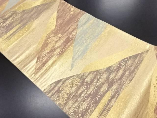 リサイクル 本金遠山・片輪車模様織り出し袋帯【送料無料】