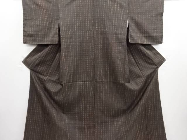 リサイクル 未使用品 板締め絞り手織り真綿紬着物【送料無料】