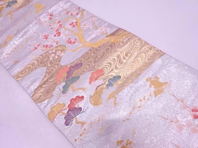 リサイクル 流水に松梅模様織出し袋帯【送料無料】