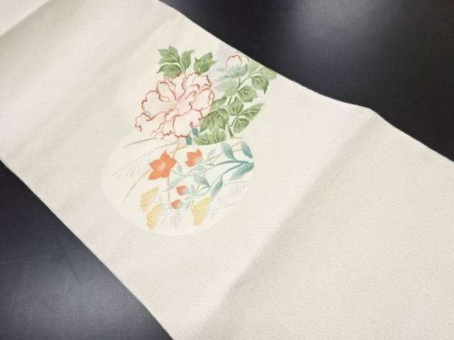【セール30%オフ】リサイクル 本爪綴れ牡丹に桔梗・女郎花模様織り出し名古屋帯【送料無料】