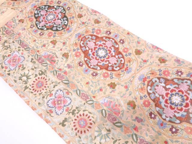 リサイクル 相良蘇州刺繍縞に宝相華模様袋帯【送料無料】
