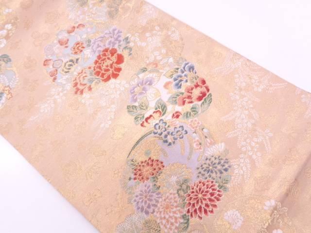 リサイクル 林武志製 慶長花の紋織出し袋帯【送料無料】