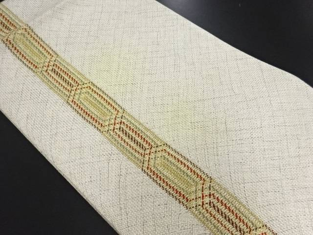 【セール30%オフ】リサイクル 組み織縞模様織り出し暈し全通袋帯【送料無料】
