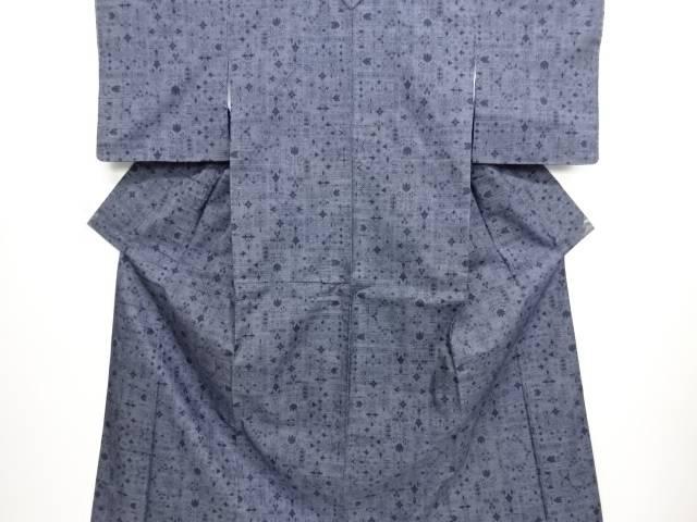 リサイクル 未使用品 花更紗模様織り出し本場泥大島紬着物(5マルキ)【送料無料】