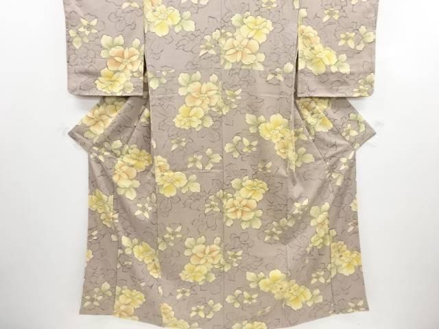 リサイクル 未使用品 花模様小紋着物【送料無料】