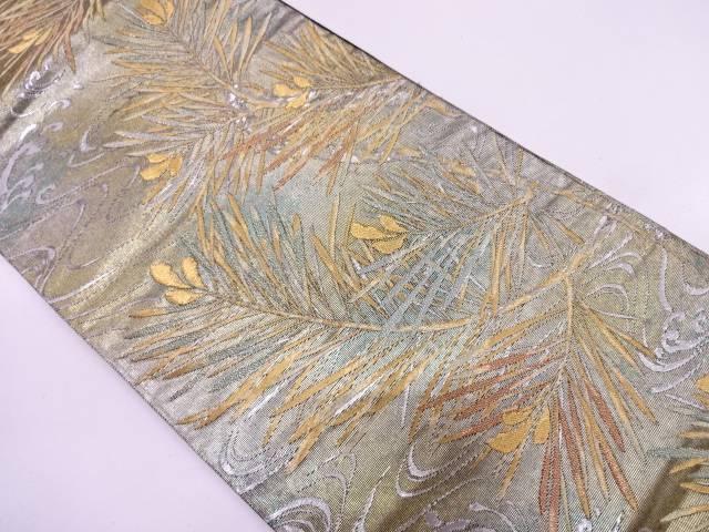 【セール30%オフ】リサイクル 琳波絵巻荒波に若松模様織出し袋帯【送料無料】