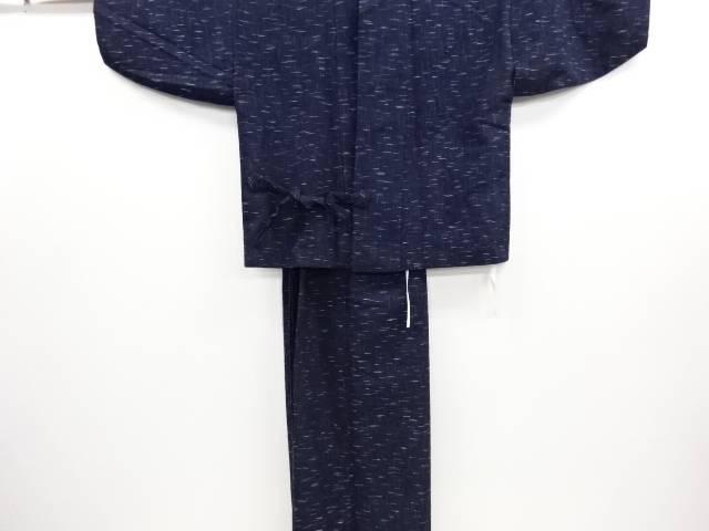 リサイクル 変わり横段織り出し手織り真綿紬二部式着物【送料無料】