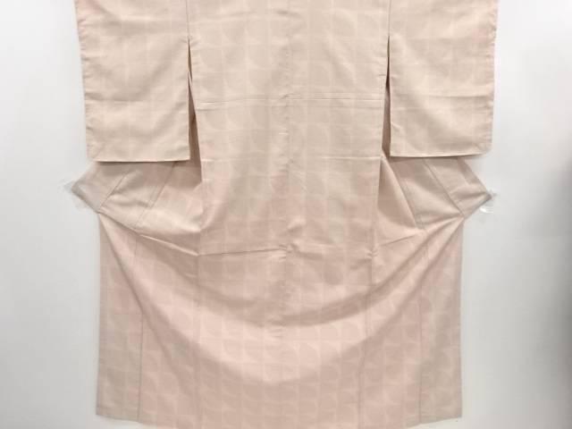 リサイクル 幾何学模様織り出し本塩沢100亀甲着物【送料無料】