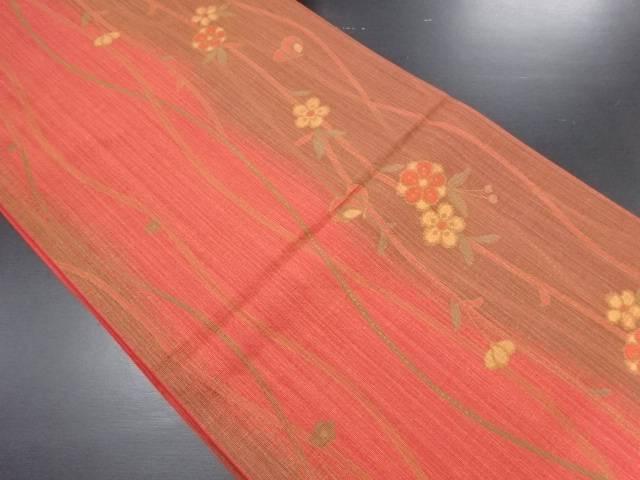 リサイクル 枝垂れ梅模様織り出し袋帯【送料無料】