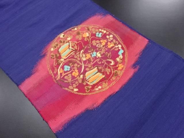 リサイクル 節紬花丸紋織り出し名古屋帯【送料無料】