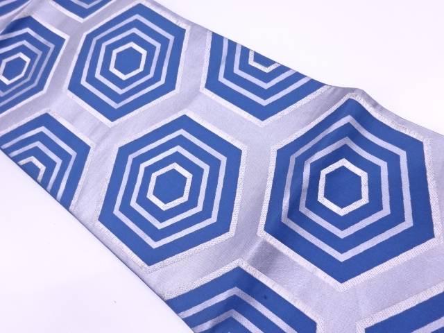 【セール30%オフ】大正ロマン 川島織物製 重ね亀甲繋ぎ模様織出し袋帯【送料無料】