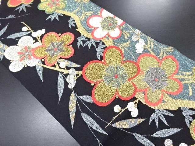 リサイクル 金糸枝梅模様織り出し袋帯【送料無料】