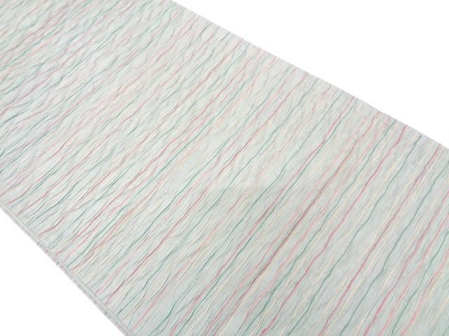 リサイクル 纐纈横段模様織出し全通袋帯【送料無料】