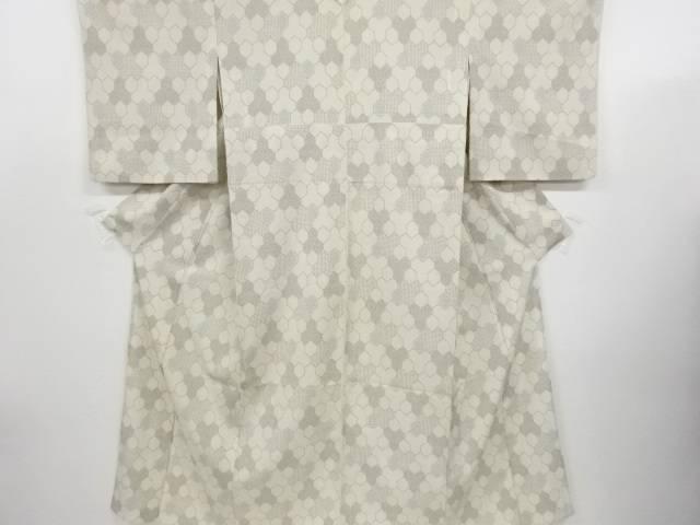 リサイクル 毘沙門亀甲織り出し本塩沢単衣着物【送料無料】
