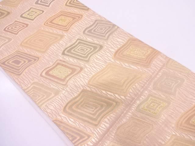 【セール30%オフ】リサイクル 田中義織物製 抽象模様織出し袋帯【送料無料】