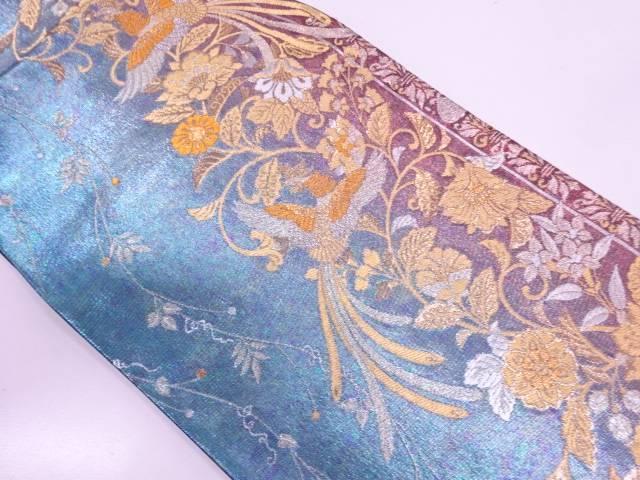 【セール30%オフ】リサイクル 鳳凰に花唐草模様織出し袋帯 【送料無料】