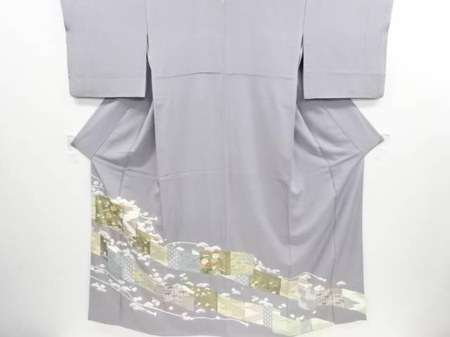 リサイクル 金彩友禅幕に菊・松竹梅模様刺繍一つ紋色留袖【送料無料】