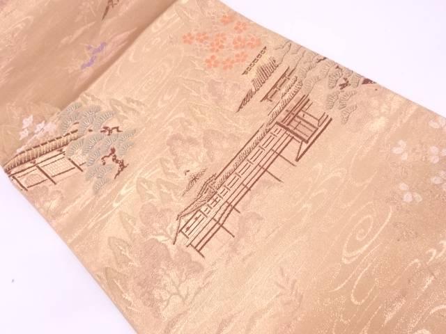 リサイクル 純金箔24K京の四季模様織出し袋帯【送料無料】