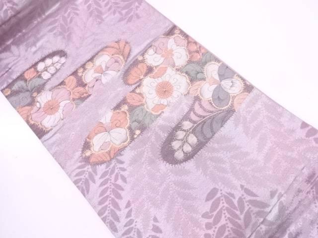 リサイクル ヱ霞に辻ヶ花模様織出し袋帯【送料無料】