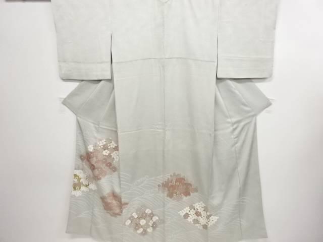 リサイクル 菱に菊桐松模様刺繍三つ紋色留袖(比翼付き)【送料無料】