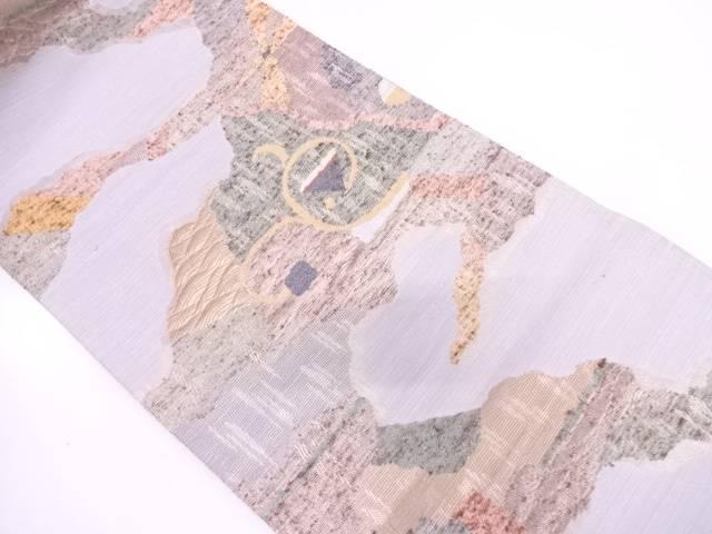 リサイクル 唐草に抽象模様織出し袋帯【送料無料】