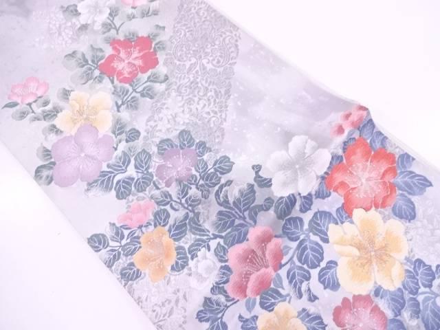 リサイクル 前田徳織物製 草花模様織出し袋帯【送料無料】