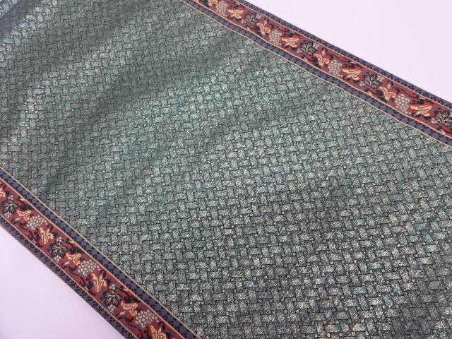 【セール30%オフ】リサイクル 縞に葡萄唐草模様織出し袋帯【送料無料】