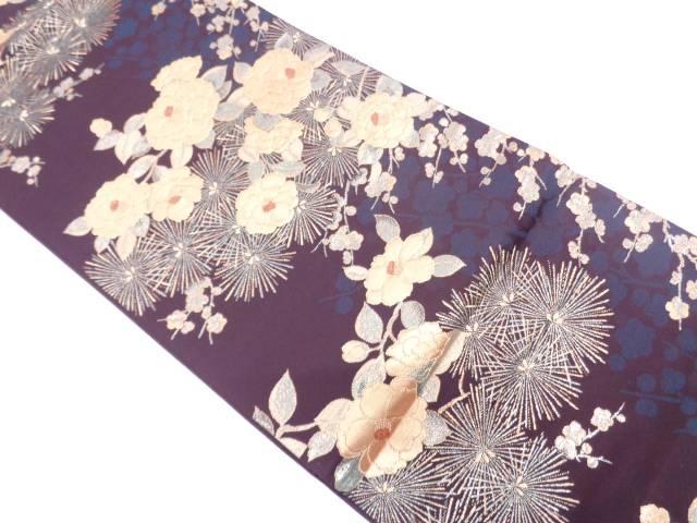 【セール30%オフ】リサイクル 松梅に椿・松模様織出し袋帯【送料無料】