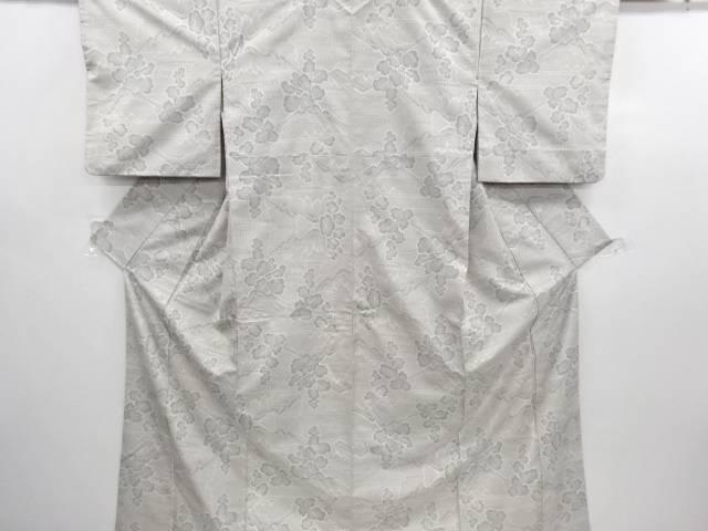 リサイクル 遠山に樹木模様織り出し本場白大島紬100亀甲着物(7マルキ)【送料無料】