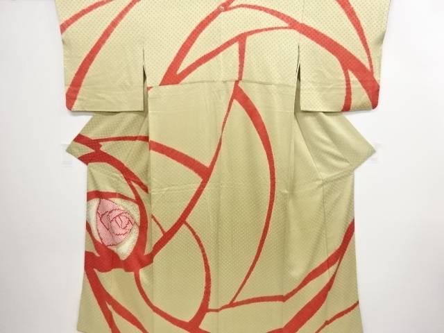 リサイクル 絞り薔薇模様一つ紋訪問着【送料無料】
