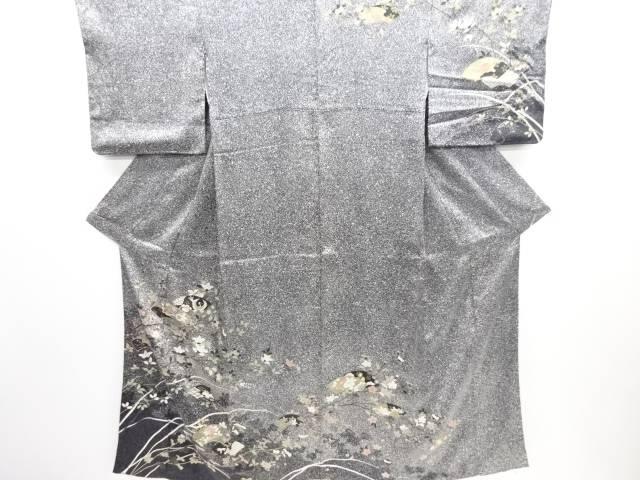リサイクル 金彩手描友禅地紙に花鳥模様訪問着【送料無料】