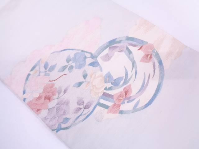 リサイクル すくい織 花丸紋様袋帯【送料無料】