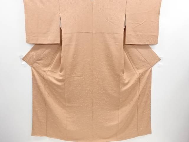 リサイクル 宝尽くし模様織り出し一つ紋色無地着物【送料無料】