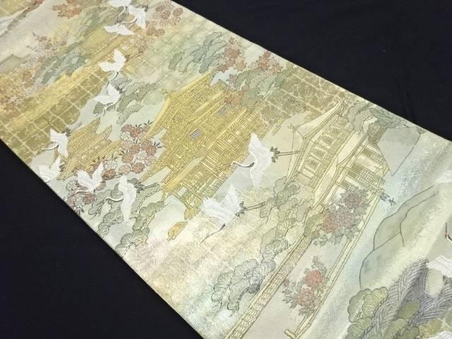 リサイクル 本金箔京名所模様織り出し全通袋帯【送料無料】